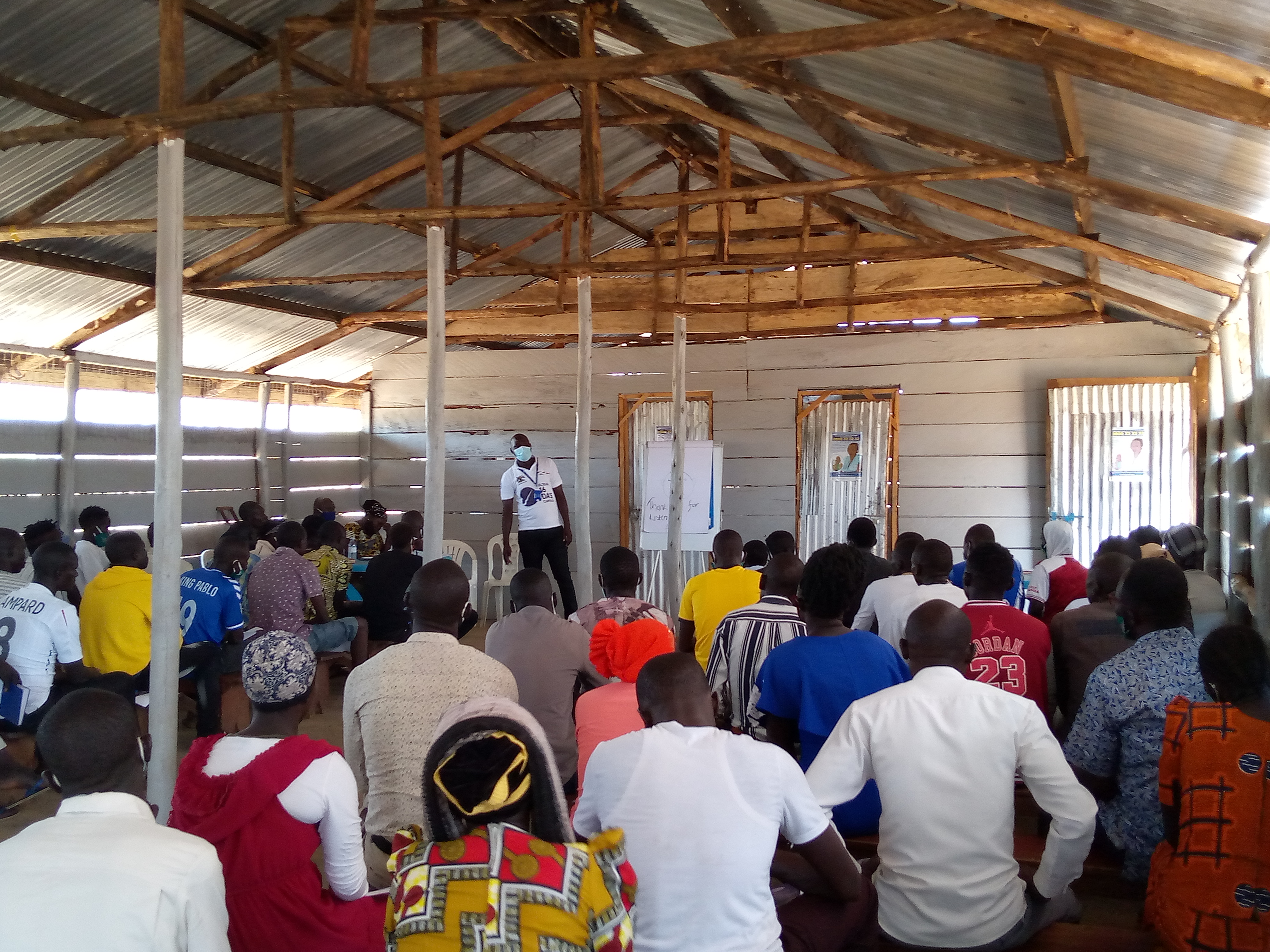 Youths in Bidibidi Settlement, Zone 3 attending the capacity building training